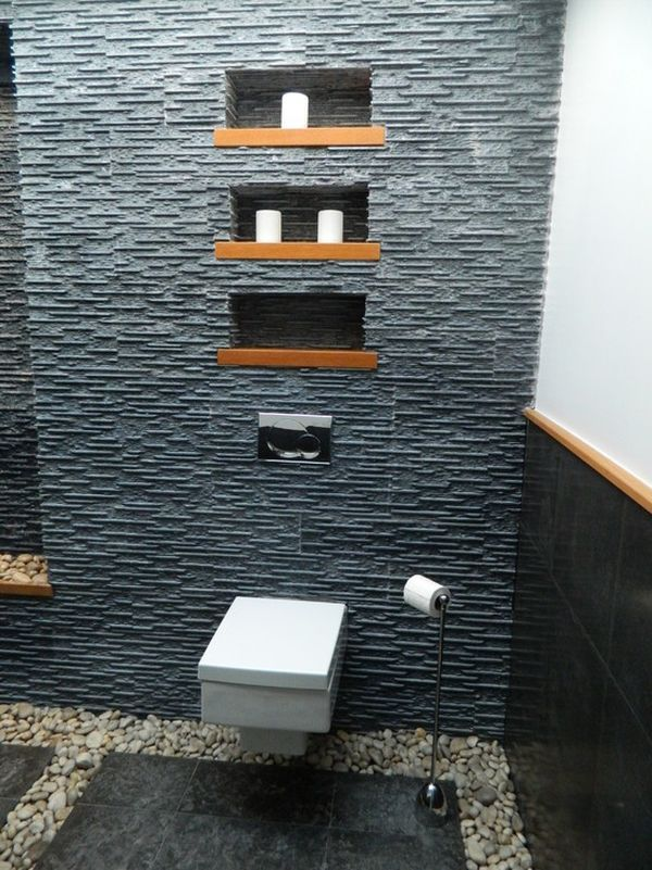 Beautiful Zen Bathrooms river-rocks-bathroom-decor | zen bathroom, wall hung toilet and toilet