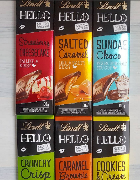 Lindt Hello Chocolate Bars Chocolate Caramel Candy