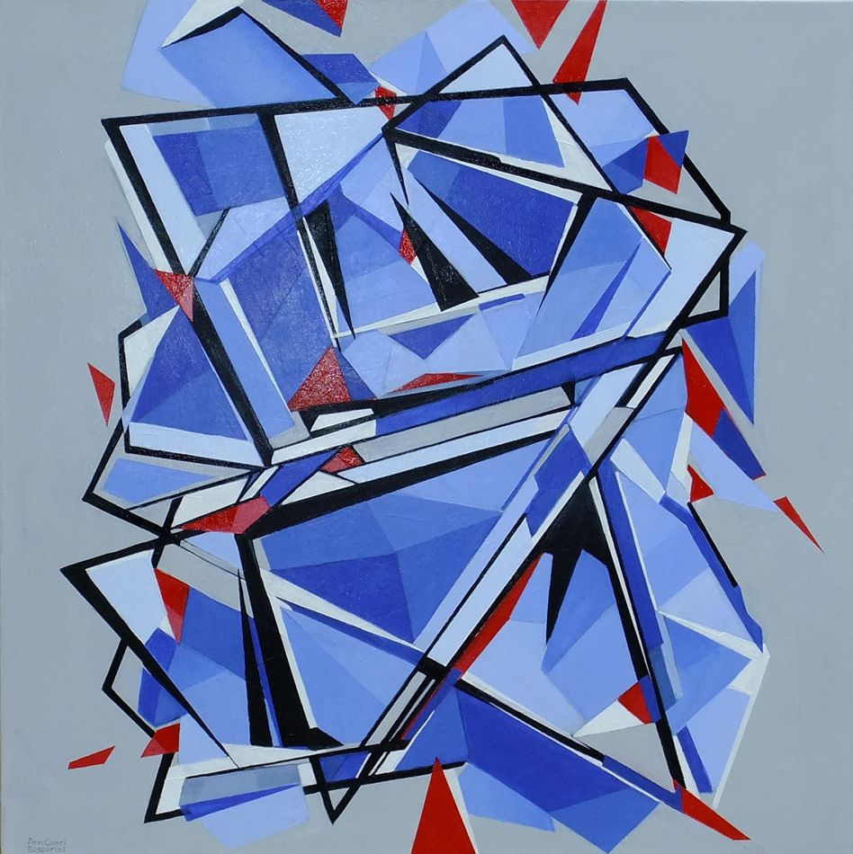 Deconstructed Pentagon Modern Abstract Painting By ...