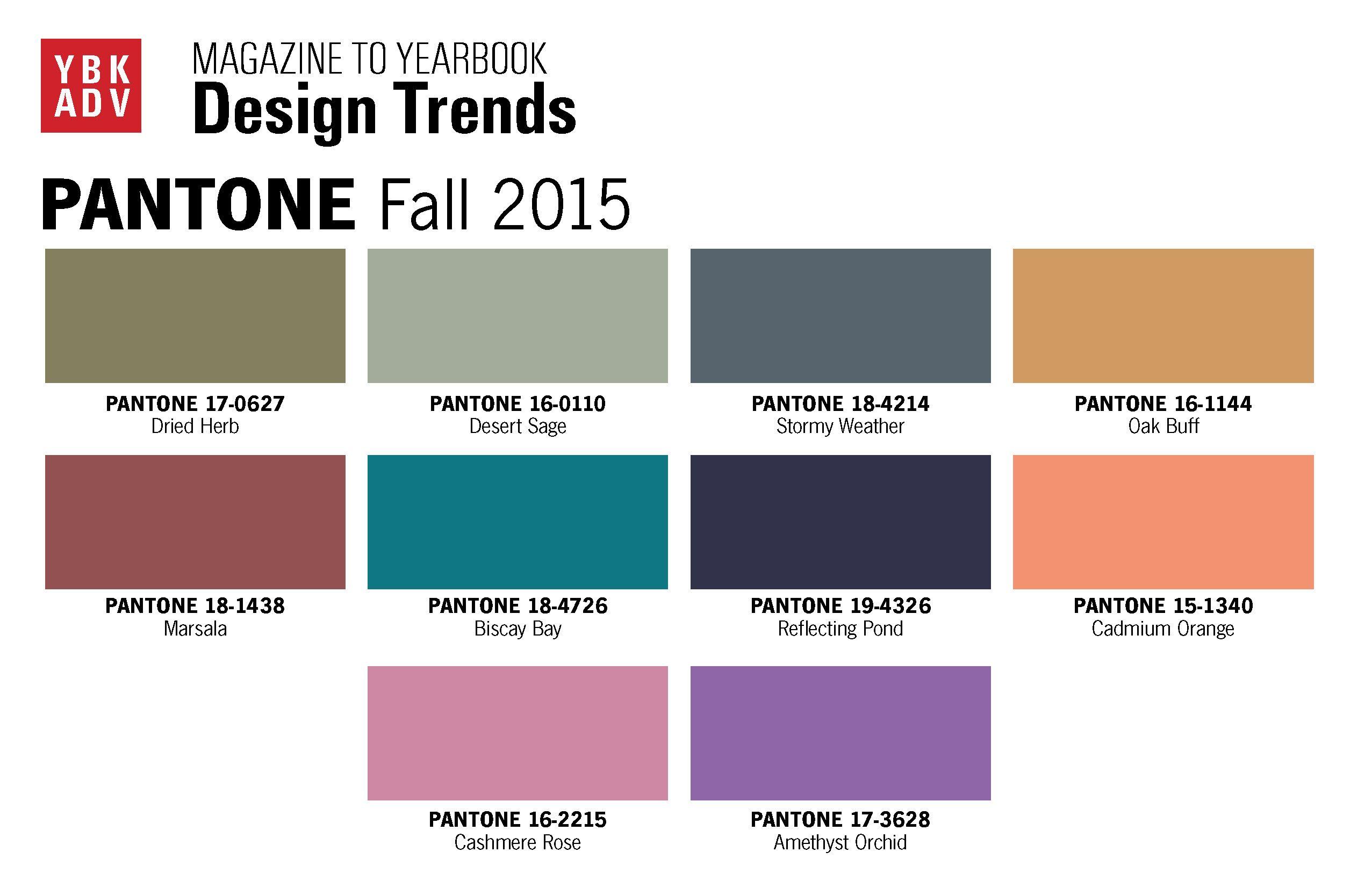 Color trends in 2015 - Fall Pantone 2015 Pantone 2015 Fall Cmyk Colors Trends