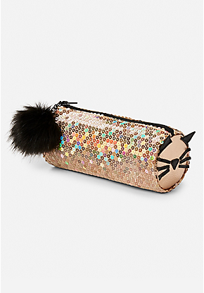 84ee0f3158 Sparkle Cat Pom Pencil Pouch