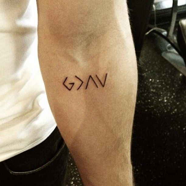 God Is Greater Than The Ups And Downs Small Tattoos For Guys Tattoos For Guys Simple Tattoo Designs