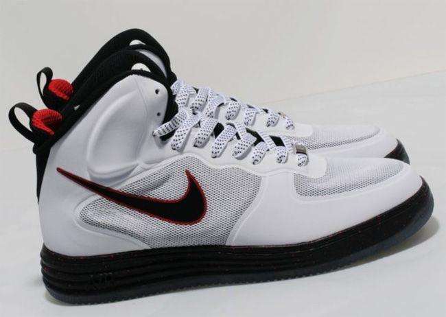 Nike Lunar Force 1 Mid White Black University Red