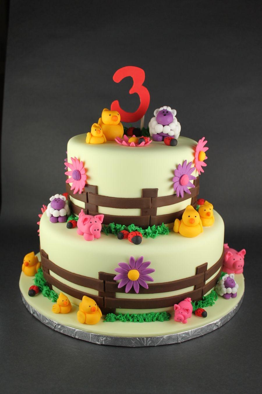 Farm Animal Birthday Cake deco birthday Pinterest Animal