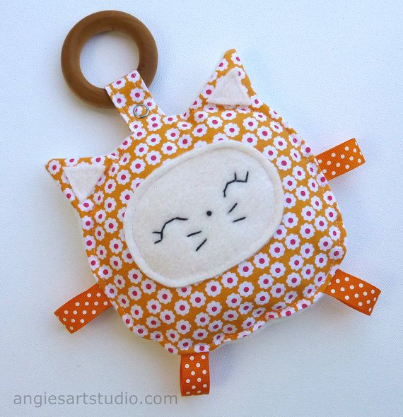 Marmalade the Cat Crinkle Toy comes with by angiebabygifts on Etsy