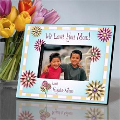 Personalized Mom In Flowers Picture Frame Bloom Flowers