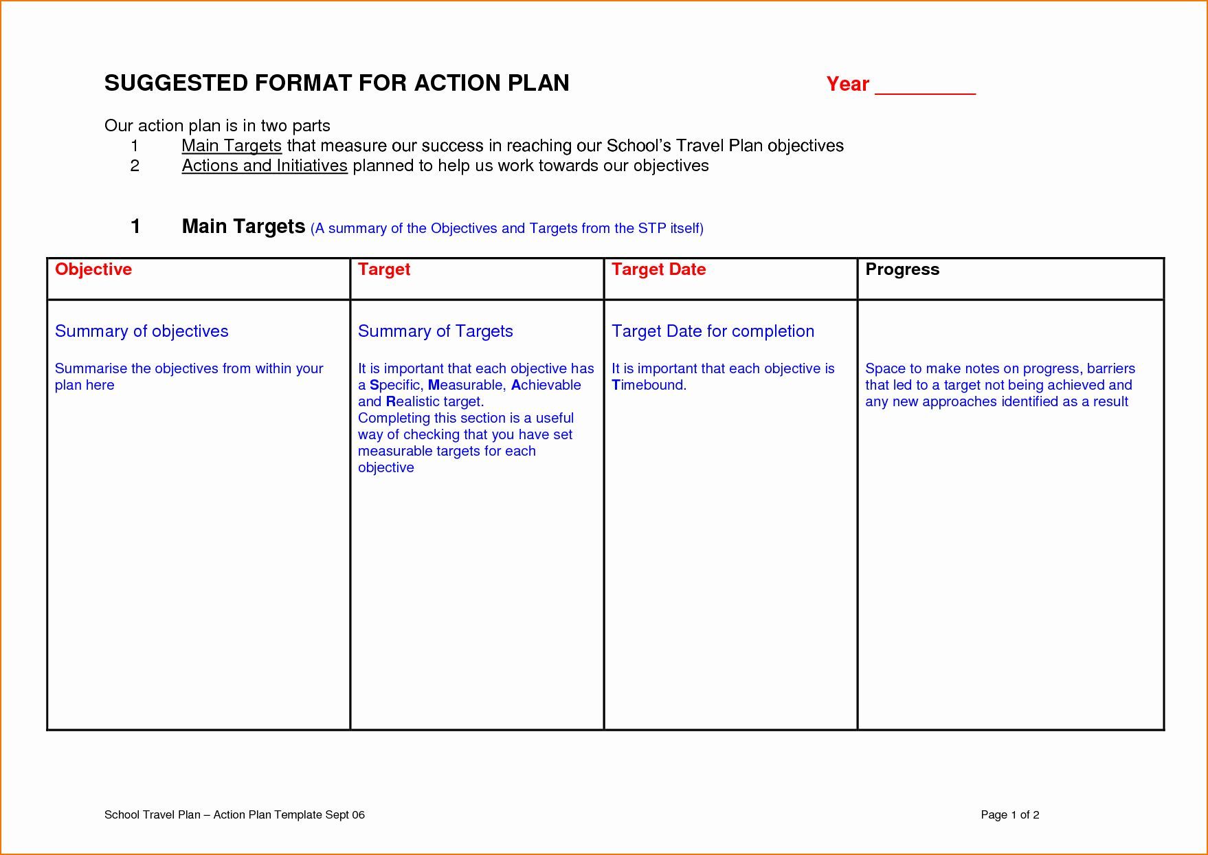 30 Educational Action Plan Template in 2020 Action plan