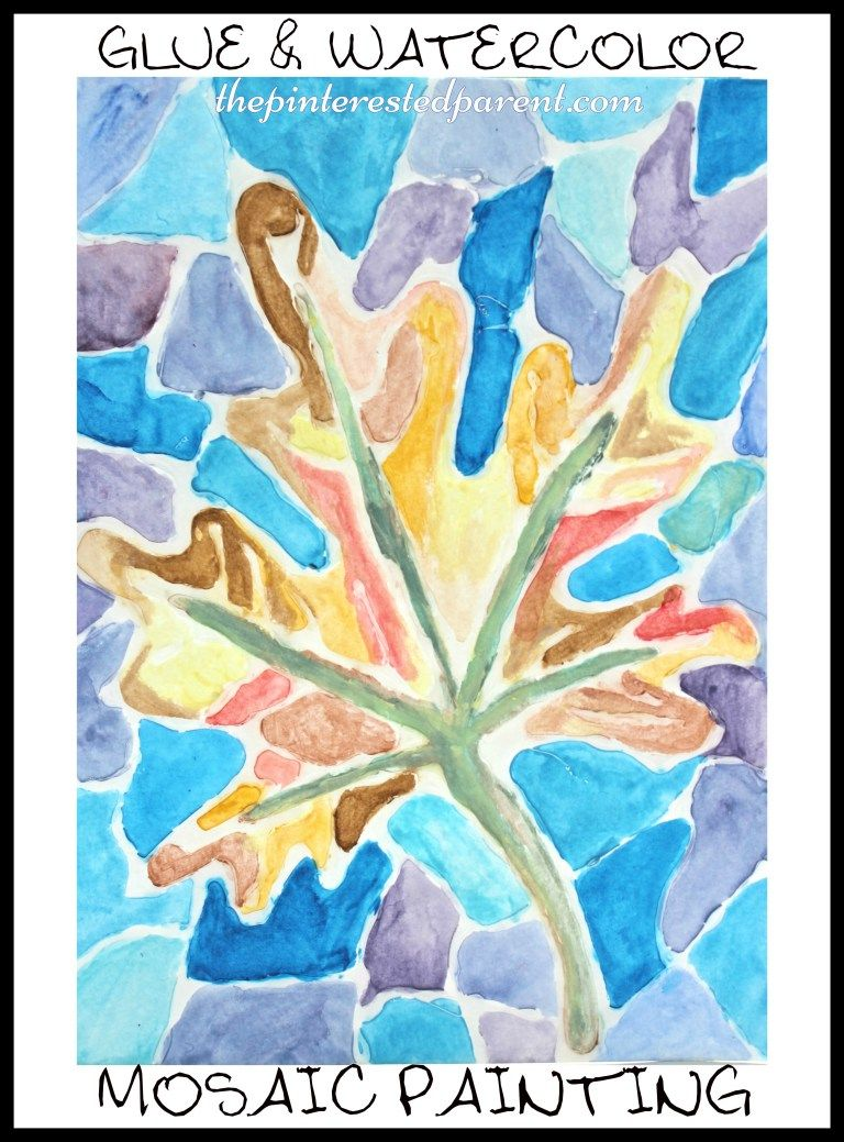 Glue Watercolors Kindergarten Art Projects Fall Art Projects