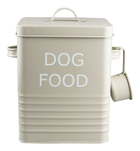 Vintage Retro Style Matt Enamel Dog Food Tin The Trendy Https