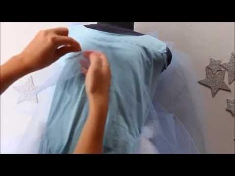 Como fazer vestido PRINCESA ELSA FROZEN - CUSTOMIZAÇÃO - YouTube
