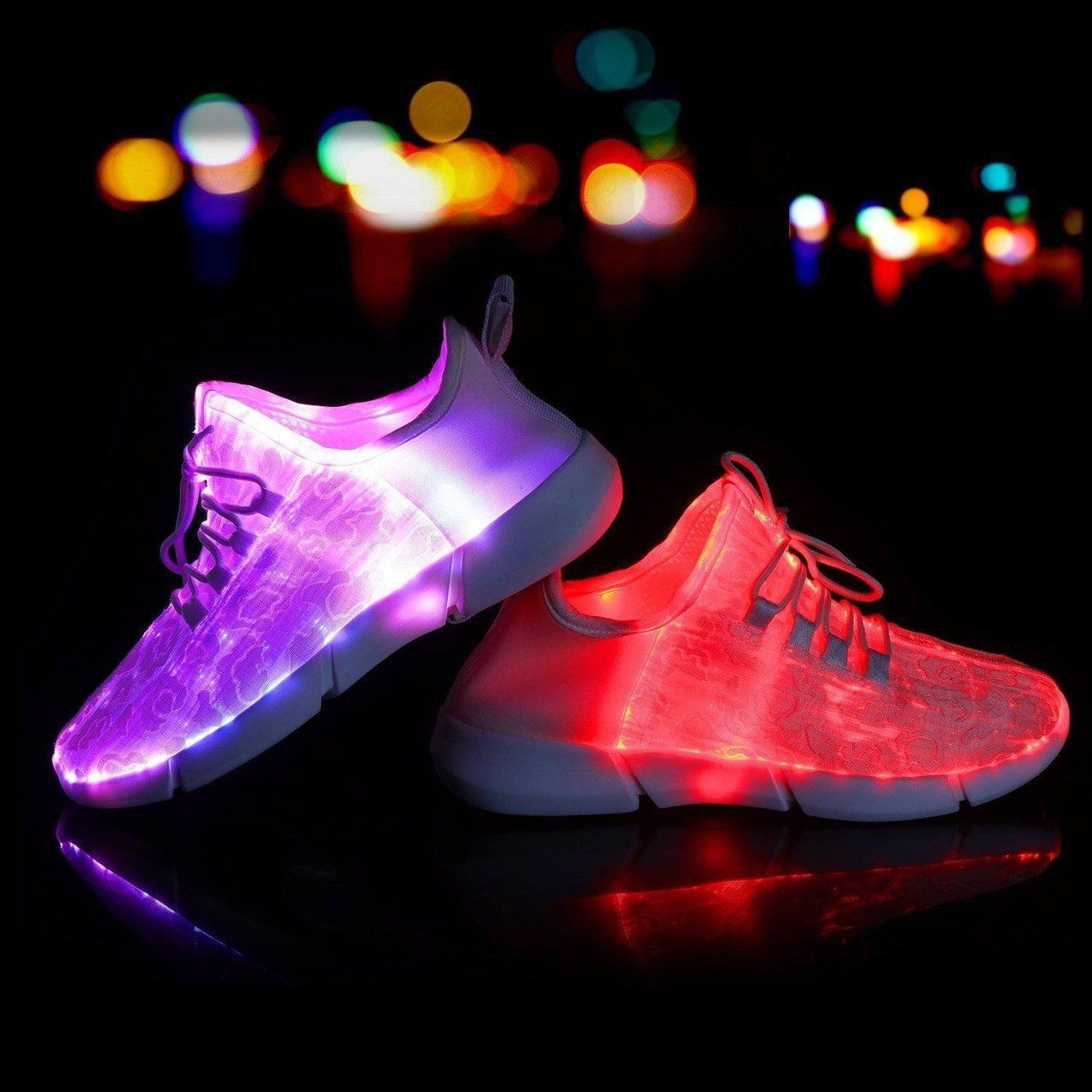 up shoes Optic LED ShoesLight sneakersLight Fiber up BECexroWQd