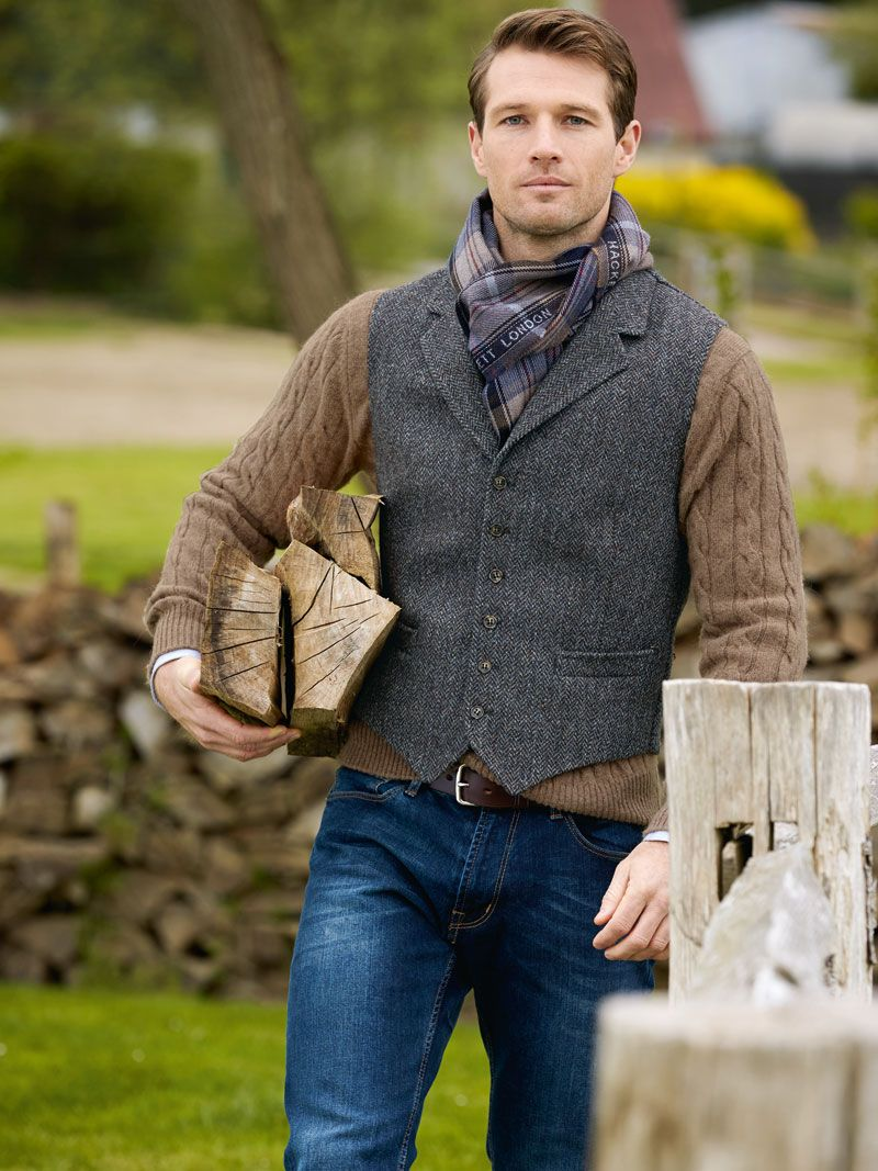 kinbury weste aus irischem tweed british tweed. Black Bedroom Furniture Sets. Home Design Ideas