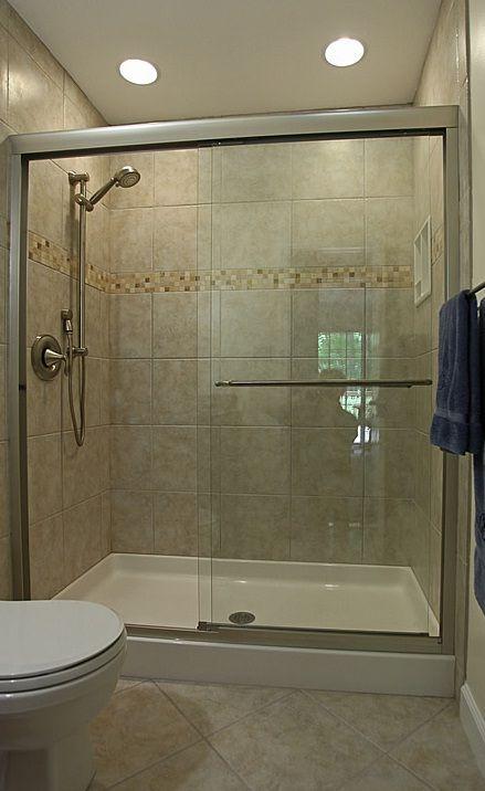 small bathroom shower tub tile ideas Small Bathroom Tile Designs with Kohler fluence frameless
