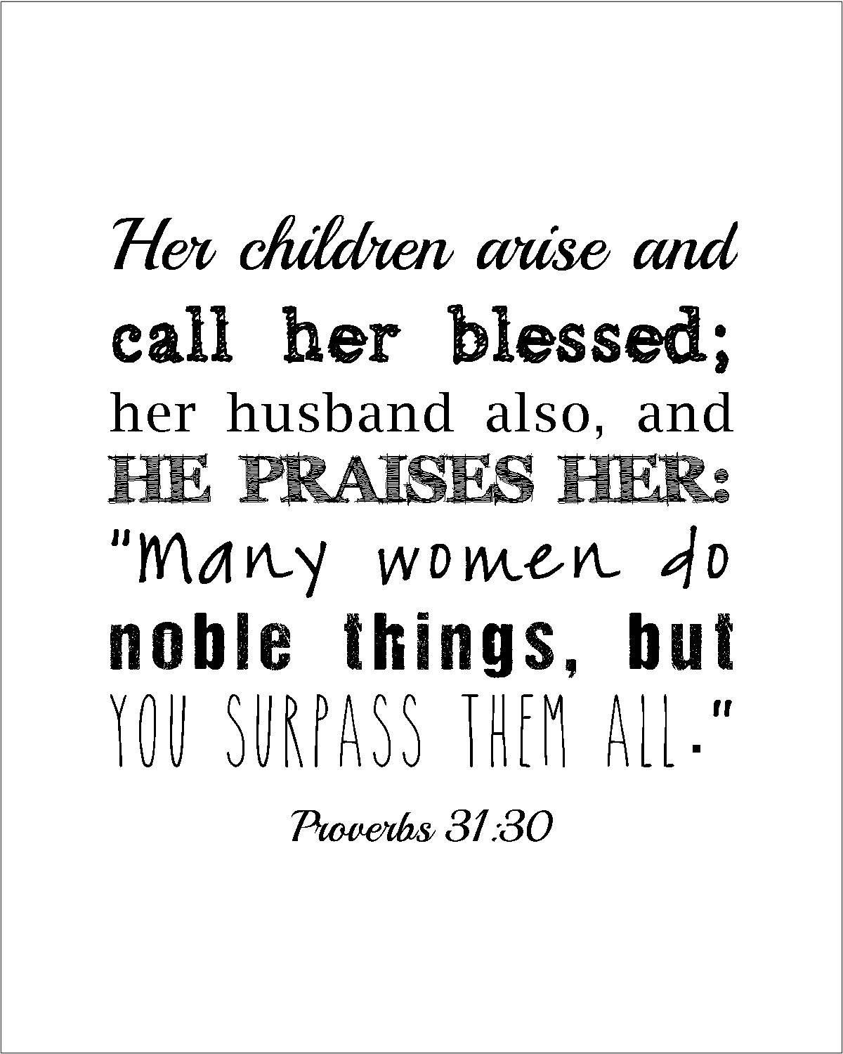 instant download proverbs 31 woman quote print gift for