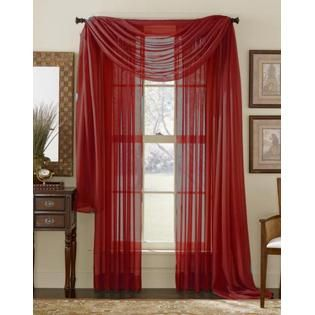 Tada A Pop Of Red Sheer Brick Red Curtain For A Valance Red