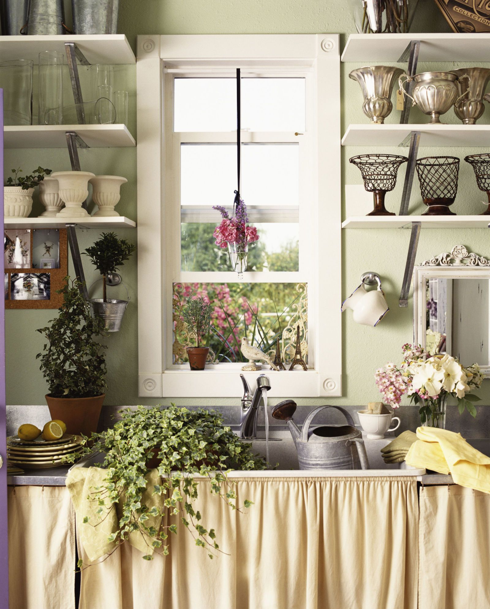 Scale is everything when you're decorating a small kitchen space.