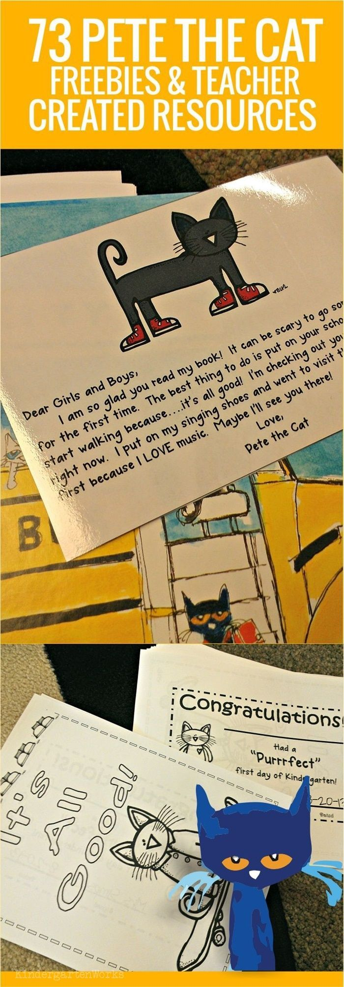 73 Cool Pete the Cat Freebies and Teaching Resources | Kollegen ...