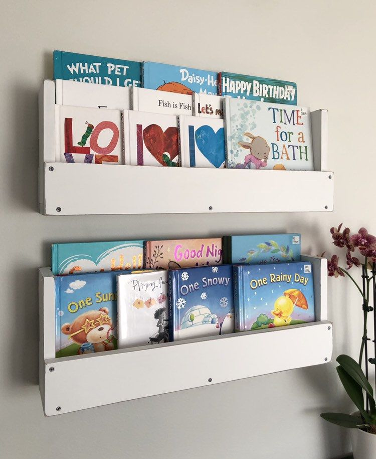Kids Nursery Bookshelves Wall Mounted