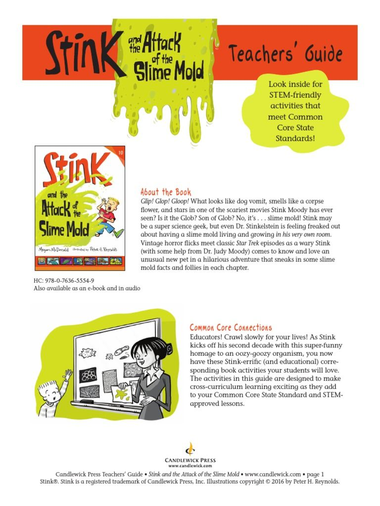 Stink The Attack Of The Slime Mold Teachers Guide Teacher Guides Stink Slime Mould