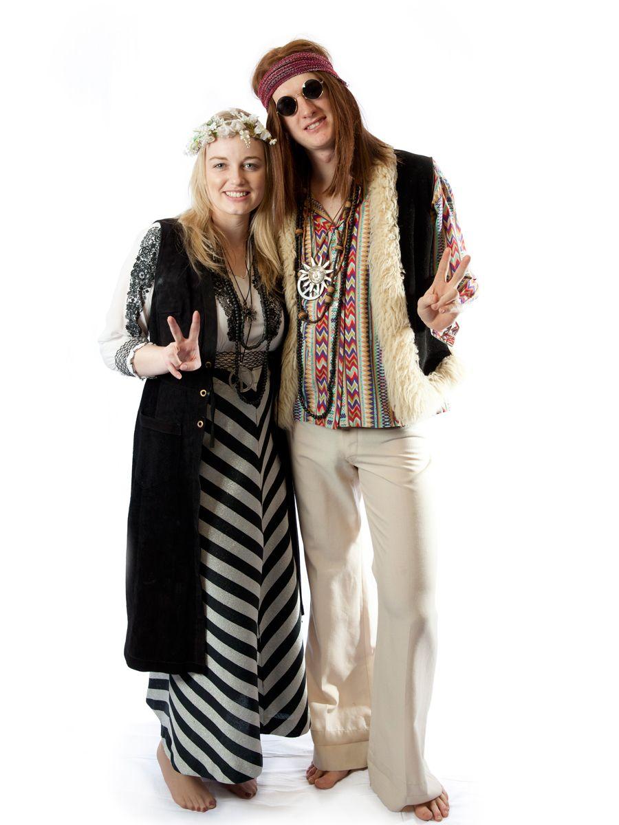 Wild At Woodstock 1970/'s Hippie Women Adult Costume