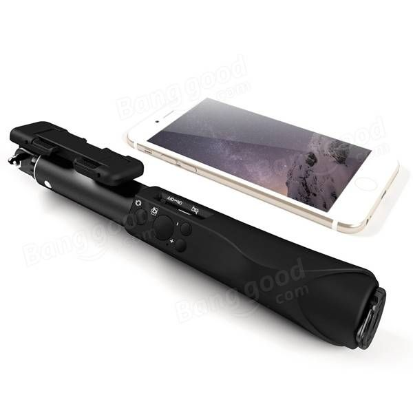 BlitzWolf® Mini Ultimate 4 Button Bluetooth Extendable Aluminium Selfie Stick Monopod Sale-Banggood.com