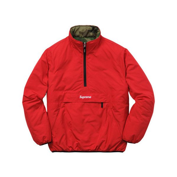 Supreme Reversible Pullover Puffer (1.355 DKK) ❤ liked on ...