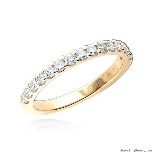 half diamond micro amazon band stackable eternity dp pave bands ring matching com rose gold wedding