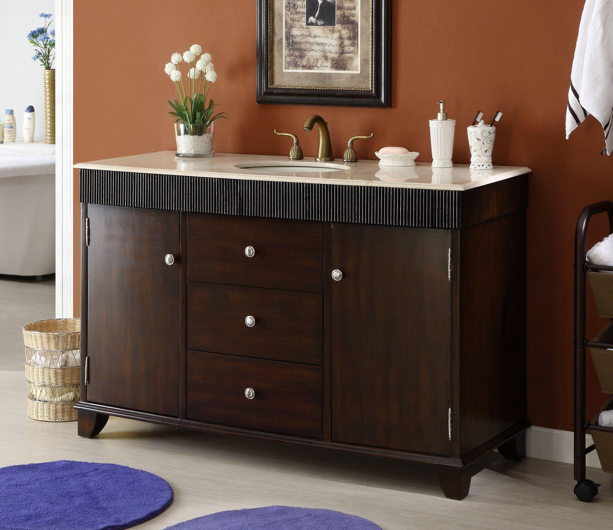 54 Contemporary Felton Bathroom Sink Vanity Cabinet Model Q154m