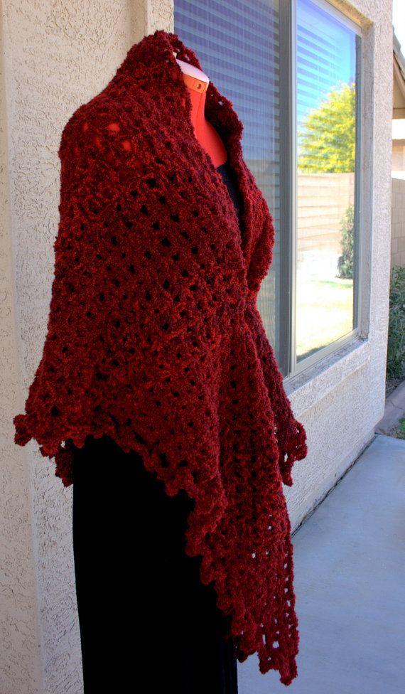 Pdf Digital Patternboucle Crochet Shawl Pattern Easy Crochet Shawl