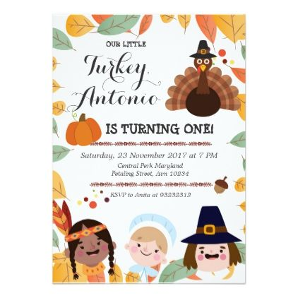 Thanksgiving Birthday Party Invitation  Thanksgiving Invitations