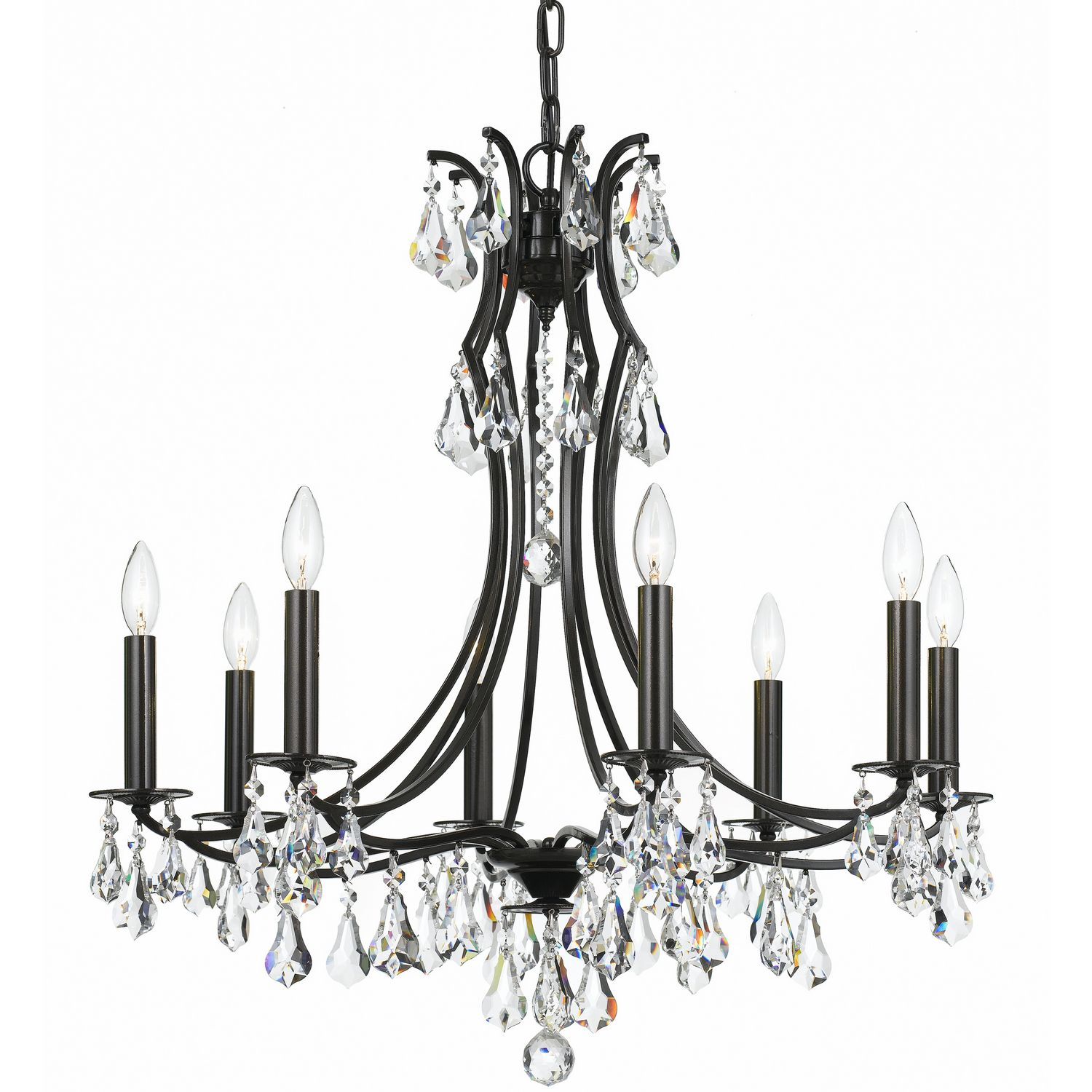 Eight Light Chandelier Inspired By Traditional Crystal