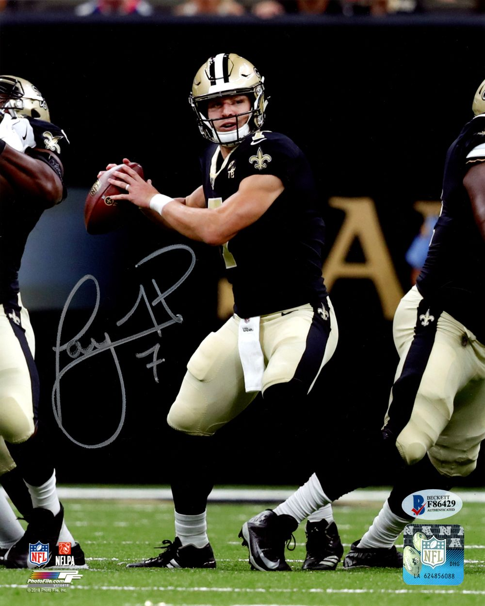 Taysom Hill Autographed 8x10 Photo New Orleans Saints Beckett Bas New Orleans Saints Football New Orleans Saints New Orleans