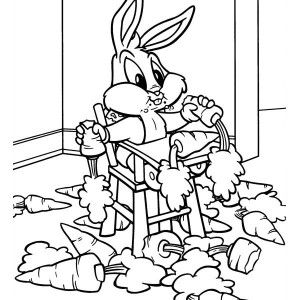 Cute Tweety in Baby Looney Tunes Coloring Page Kids Play Color