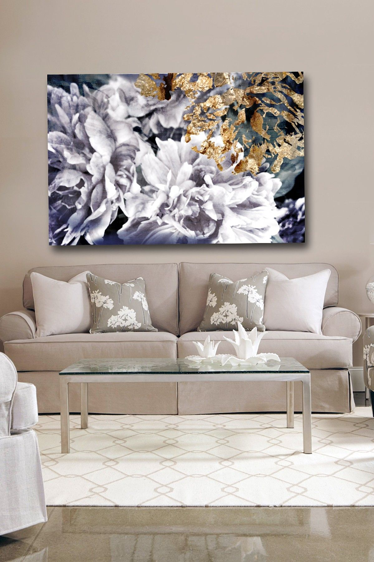 Oliver Gal Dos Gardenias Canvas Wall Art Hautelook
