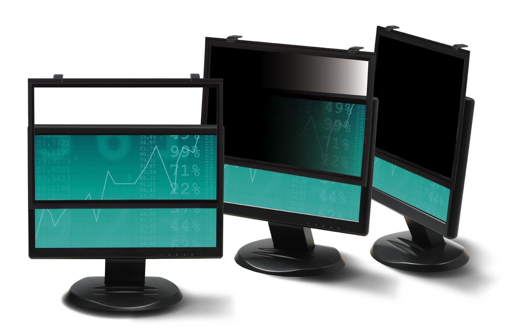 """Framed Desktop Monitor Privacy Filter For 16""""-17 Widescreen Lcd"""