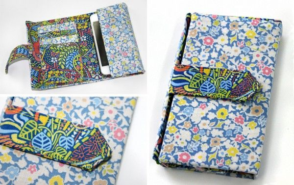 Sew A Liberty Phone Wallet Free Sewing Tutorial Patternpile Com Sew Quilt Knit And Crochet Fun Gifts Sewing Tutorials Free Crochet Phone Cases Crochet Mobile