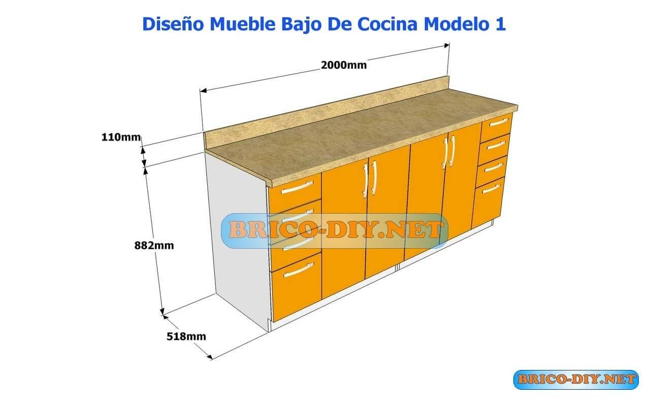 Diseños De Muebles Bajos De Cocina ,En MDF Madera y Melamina ,hoy ...