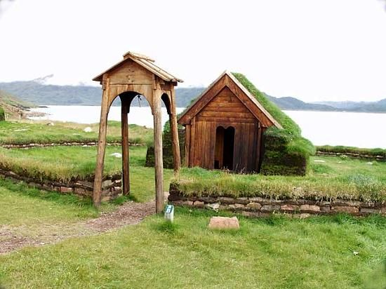 Viking Church With Sod Roof Stage It Entrance Gates