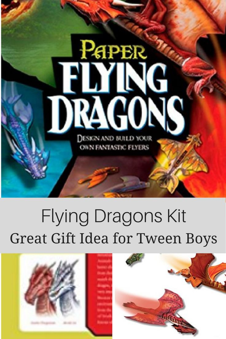 Cool gift idea for tween boys - Paper Flying Dragons. Fun making ...