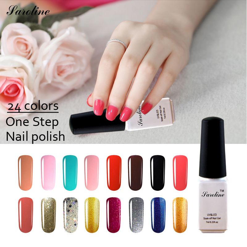 saroline cheap gel art 3 in 1 lucky colors UV Gel Polish Manicure ...