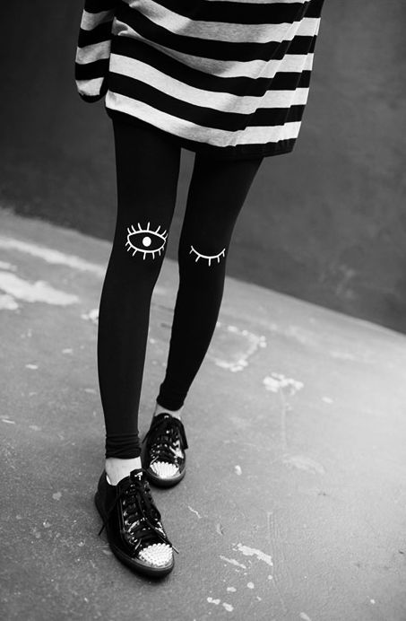 These would make the sickest Night Vale related tights.... - Total Street Style Looks And Fashion Outfit Ideas