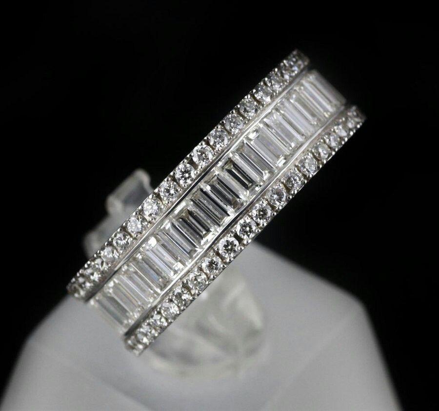 Baguette Diamond Ring White Gold Baguette Diamond Rings
