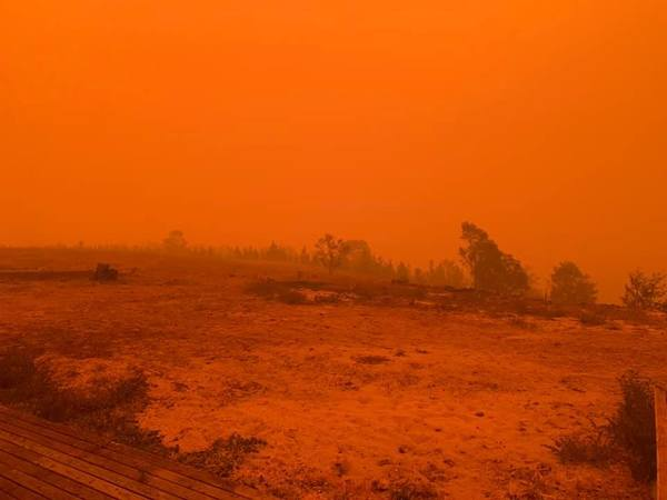 Bushfires upgraded to emergency level after nightfall on