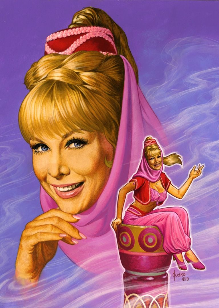 I Dream Of Jeannie Comic Art Art Celebrityart With Images I