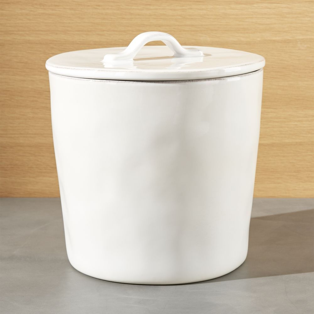 Marin Large White Ceramic Kitchen Canister - Crate and Barrel ...