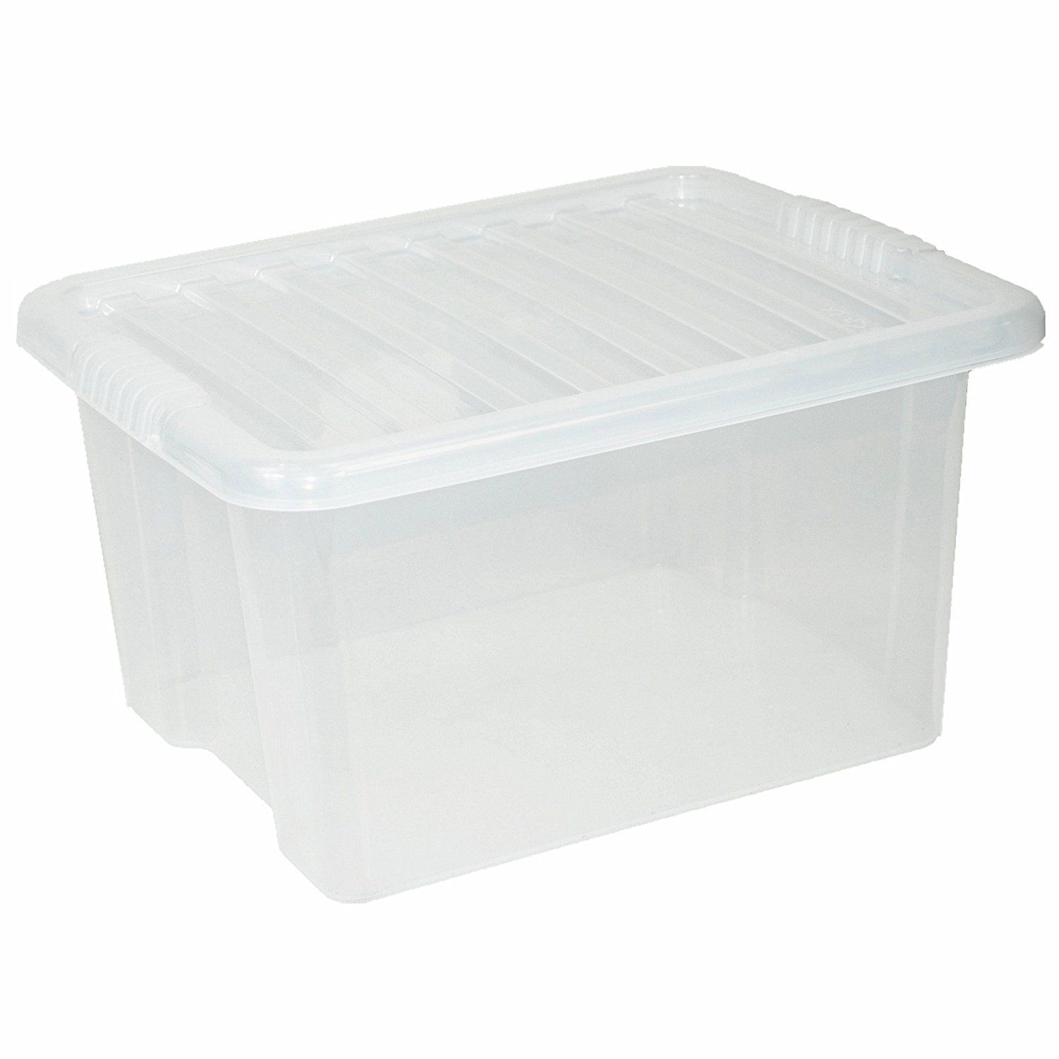 CrazyGadget Large Big Plastic Storage Clear Box with Clear Lid