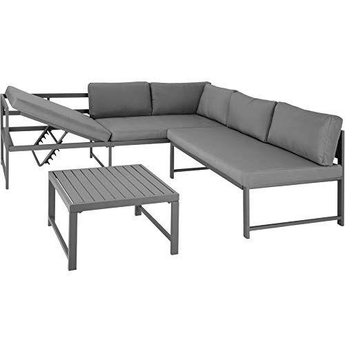 Tectake 403215 Canape De Jardin Modulable Salon D Angle Chaise