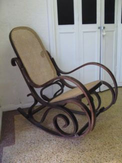 $60 Vintage CANE ROCKING CHAIR Bentwood Rocker Timber 53x90x97cm Text 0411691171 or email info@bitspencer.com