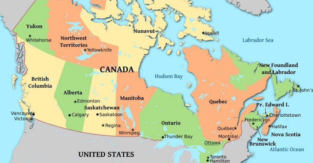 Canada Is Worldwide Known For Its Hockey Maple Syrup And Severely Cold Winters But The Country Has Other Facts That You Canada Map Yellowknife Labrador City