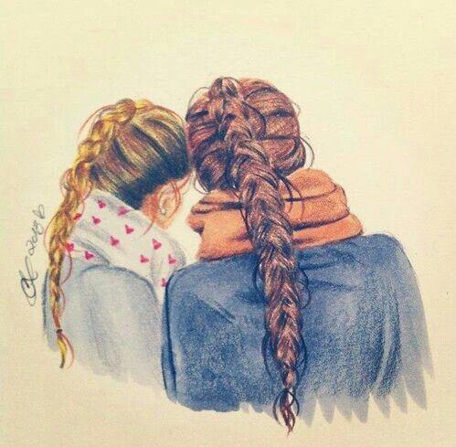 Hermanas De Corazon No De Sangre Mejores Amigas Dibujo Dibujos